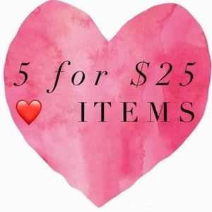 ALL ITEMS WITH A ❤️ ARE 5/25!